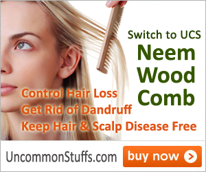 Click here to buy Neem Wood Comb!
